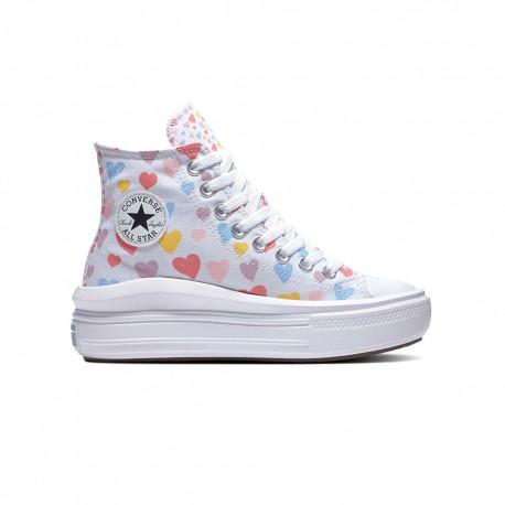 Converse Sneakers All Star Move Hi Multicolore Bianco Bambina