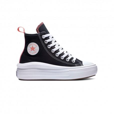 Converse Sneakers All Star Move Hi Nero Rosa Bambina