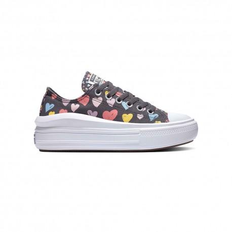 Converse Sneakers All Star Move Nero Cuori Bambina