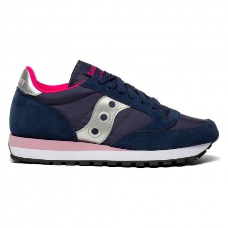 Saucony Sneakers Jazz O Blu Navy Argento Donna