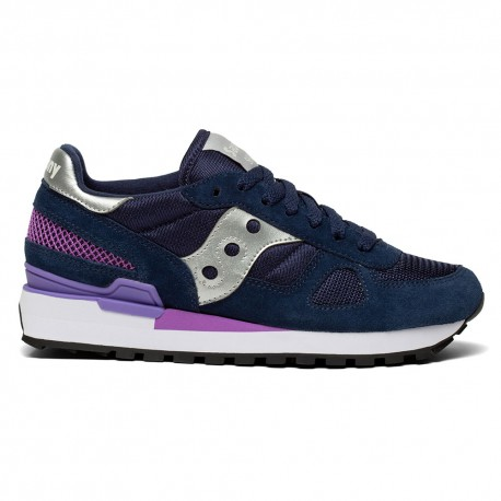 Saucony Sneakers Shadow O Blu Navy Argento Donna