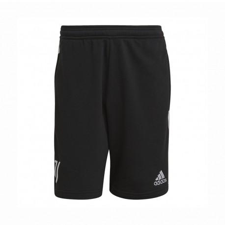 ADIDAS pantaloncini calcio juve 3stripes nero bianco uomo