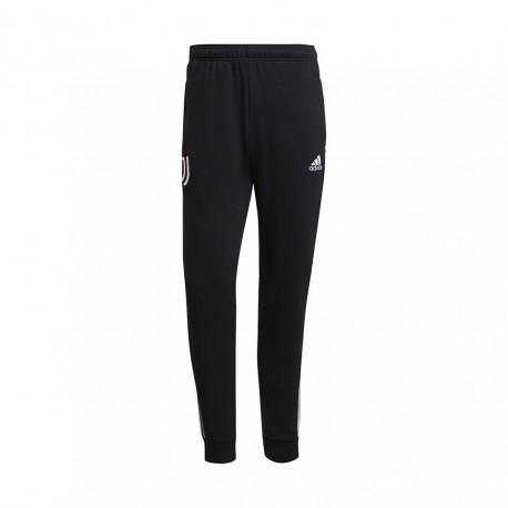 ADIDAS pantaloni allenamento calcio juve 3stripes nero bianco uomo