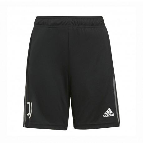 ADIDAS pantaloncini calcio juve training nero bianco bambino