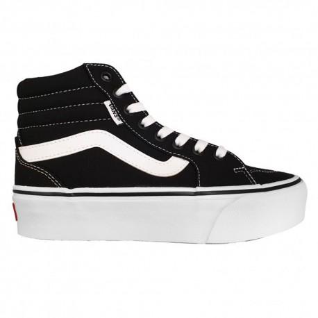 Vans Sneakers Filmore Hi Platform Nero Bianco Donna