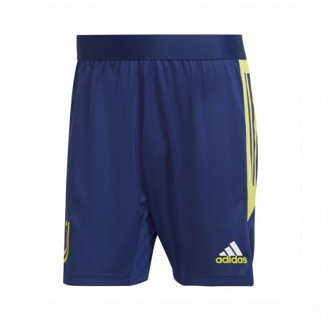 ADIDAS pantaloncini calcio juve eu training blu giallo uomo