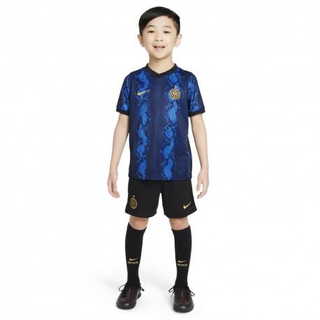 Nike Completo Calcio Little Inter Home 21/22 Blu Oro
