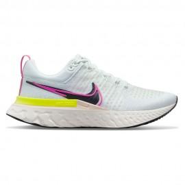 Nike Scarpe Running React Infinity Run Flyknit Bianco Nero Donna