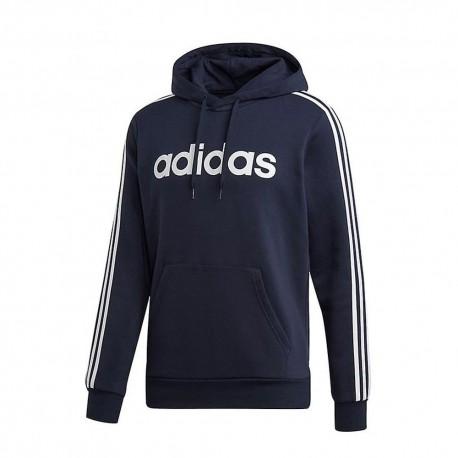 Adidas Felpa 3s Con cerniera e Cappuccio Blu Uomo