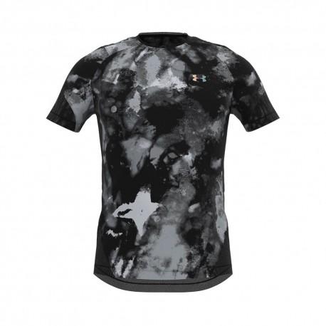 Under Armour T-shirt Rush Print 2.0 Grigio Uomo