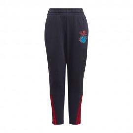 ADIDAS pantaloni spiderman nero/rosso bambino