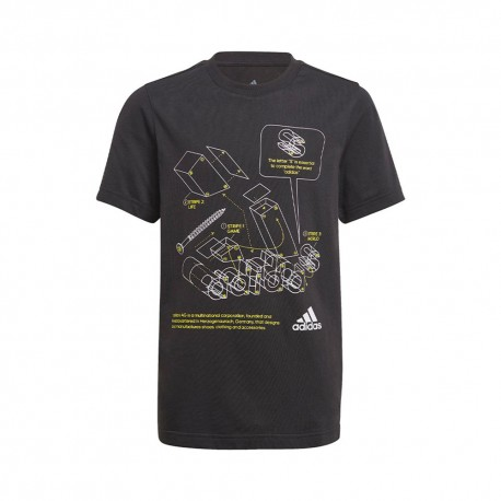 ADIDAS t-shirt tech bos nero bambino