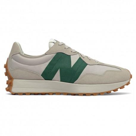 New Balance Sneakers 327 Nylon Suede Sabbia Verde Uomo