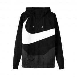 Nike Felpa Con Cappuccio E Swoosh Nero Uomo