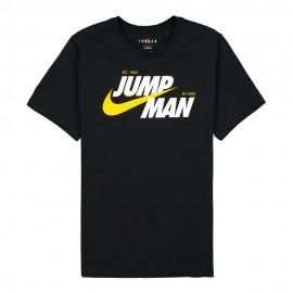 Nike T-Shirt Jordan Jumpman Front Nero Uomo