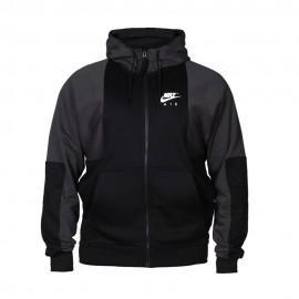 Nike Felpa Con Cappuccio E Zip Logo Air Nero Uomo