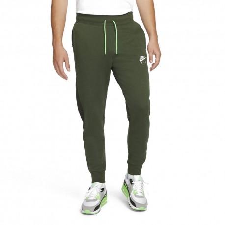 Nike Pantaloni Con Polsino Logo Air Verde Uomo