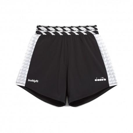Diadora Shorts Sportivi 9cm Buddyfit Nero Donna