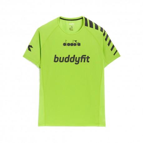 Diadora Maglietta Palestra Buddyfit Verde Lime Uomo