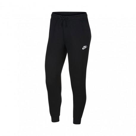 Nike Pantaloni Con Polsino Logo Nero Donna