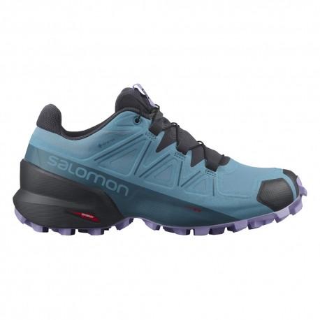 Salomon Scarpe Trail Running Speedcross 5 Gtx Blu Donna