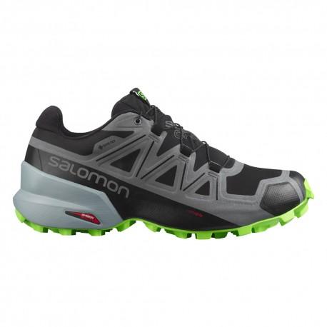 Salomon Scarpe Trail Running Speedcross 5 Gtx Nero Verde Uomo