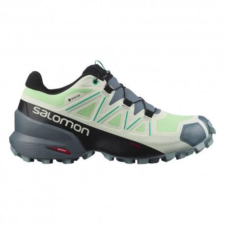 Salomon Scarpe Trail Running Speedcross 5 Gtx Verde Donna
