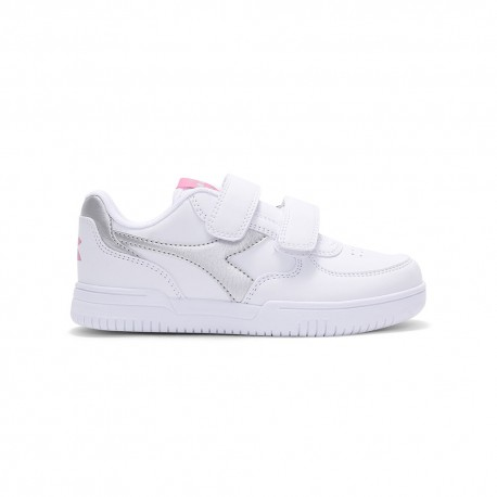 Diadora Sneakers Raptor Low Ps Bianco Argento Bambina