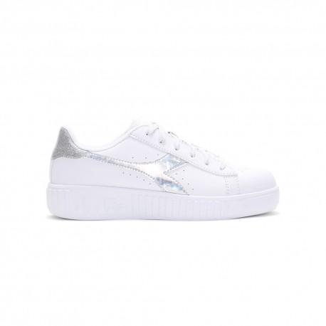 Diadora Sneakers Game Step Diamonds Gs Bianco Argento Bambina