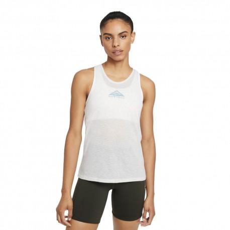 Nike Canotta Trail Running City Sleek Grigio Donna