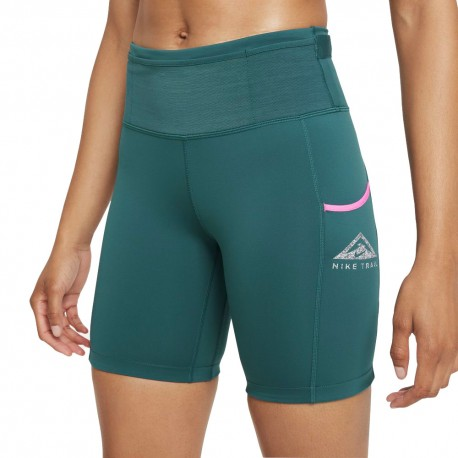 Nike Short Trail Runnings Epic Luxe Teal Verde Argento Donna