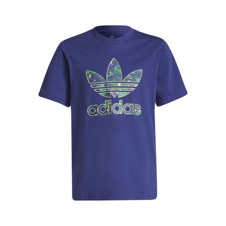 ADIDAS originals t-shirt logo blu bambina