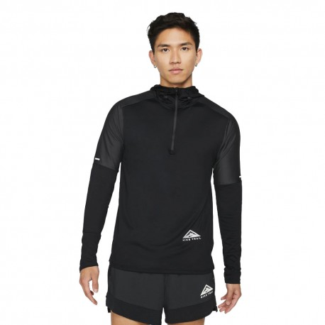 Nike Maglia Trail Running Df Emt Gx Hoodie Nero Uomo