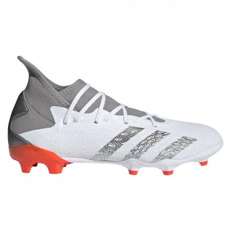 ADIDAS scarpe da calcio predator freak .3 fg bianco rosso uomo