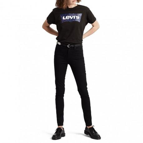 Levi's Jeans 721 Hr Skinny Nero Donna