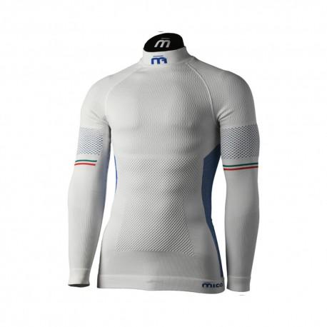 Mico Sport Maglia Trekking Lupetto M1 Skintech 7021 Bianco Uomo