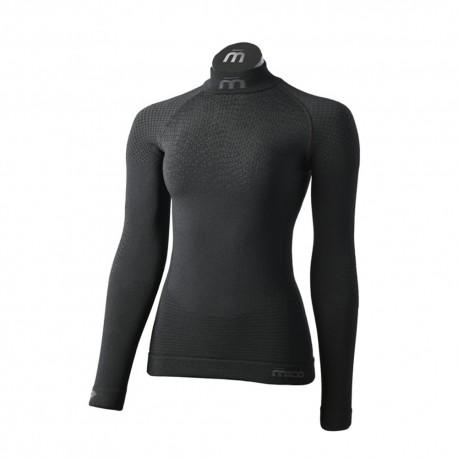 Mico Sport Maglia Trekking Lupetto Superthermo Primaloft Skintech 1486 Donna