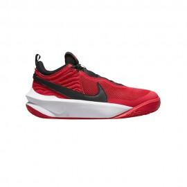 Nike Team Hustle D 10 Gs Rosso Nero Bambino