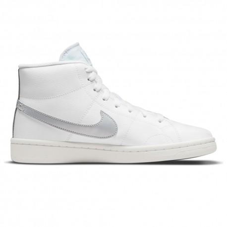 Nike Court Royal 2 Mid Bianco Argento Donna