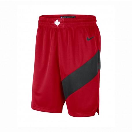 Nike Pantaloncini Basket NBA Toronto Road Rosso Blu Uomo