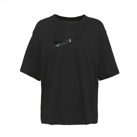 Nike T-Shirt Crop Nero Donna