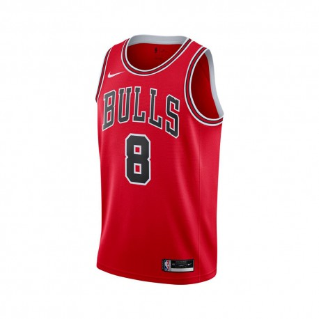 Nike Canotta Basket Nba Chicago Icon Rosso Nero Uomo