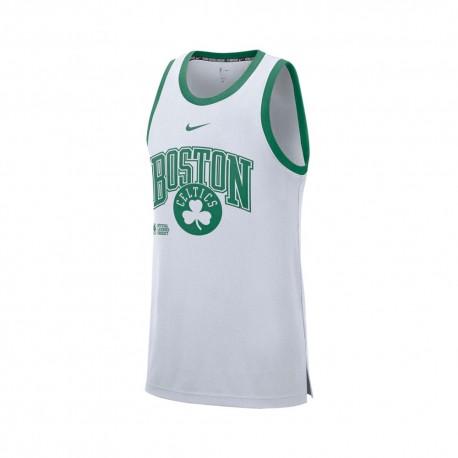 Nike Canotta Basket Nba Boston Dna Bianco Verde Uomo
