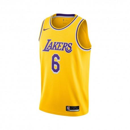 Nike Canotta Basket Nba Lakers Lebron Giallo Viola Uomo