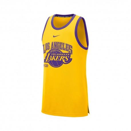 Nike Canotta Basket Nba Lakers Dna Giallo Viola Uomo