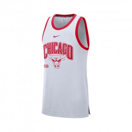 Nike Canotta Basket Nba Chicago Dna Bianco Rosso Uomo